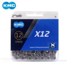 Ланцюг KMC X12 12 швидкостей 126 ланок + замок срібний/срібний