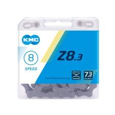 Ланцюг KMC Z8.3 7-8 швидкостей 114 ланок + замок срібний/сірий