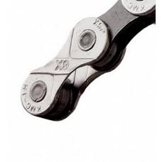 Ланцюг KMC X9 9 швидкостей 114 ланок срібна/сіра + замок