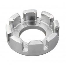 Спицний ключ SuperB у формі кільця з вирізами сріблястий сталевий