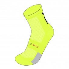 Шкарпетки R2 Endurance колір неоновий жовтий розмір S (35-38)