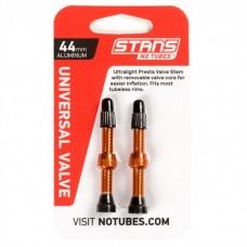 Безкамерний ніпель Stan's Notubes FV 44мм (2шт на блістері) помаранчеві