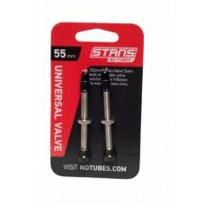 Безкамерний ніпель Stan's Notubes FV 55мм (2шт на блістері) сріблясті
