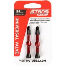 Безкамерний ніпель Stan's Notubes FV 55мм (2шт на блістері) червоні