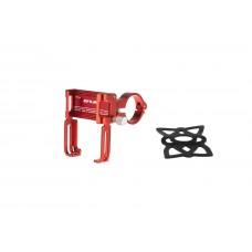 Тримач гаджета GUB P 20 на кермо (поворот на 360 градусів) алюмінієвий червоний