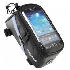 """Сумка на раму під смартфон Roswheel 6.5"""" 12496L-B5 чорний/синій"""