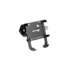 Тримач гаджета GUB PRO-3 на кермо алюмінієвий для PowerBank/телефонів у чохлах. чорний