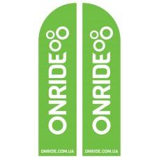 Прапор з логотипом ONRIDE
