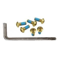 Гвинти Alligator для кріплення ротора Torx золотистий 6 шт + ключ